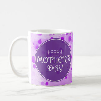 Happy Mother's Day Abstract Purple Coffee Mug