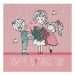 Happy Mother's Day and Children Poster