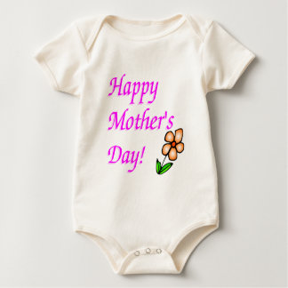 Happy Mothers Day Baby Bodysuit