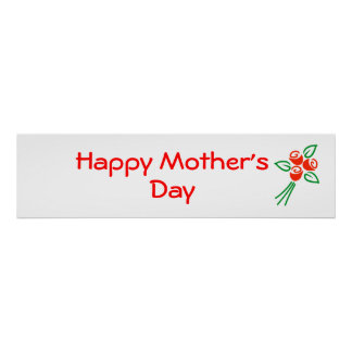 Happy Mother's Day Banner Poster