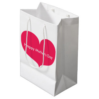 Happy Mother's Day | Big Pink Heart Gift Bag