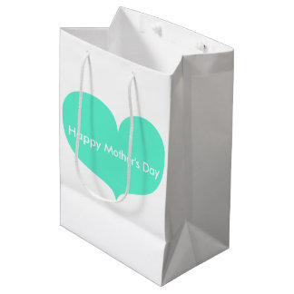Happy Mother's Day | Big Teal Heart Gift Bag