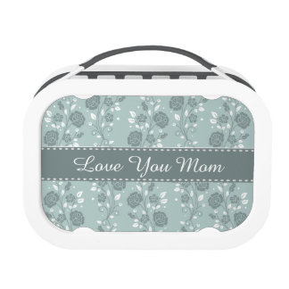 Happy Mother's Day Blue Floral Design Lunch Box