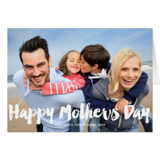Happy Mother's Day Bold Brush Script Photo Card