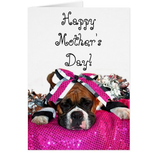 Happy Mother's day boxer greeting card