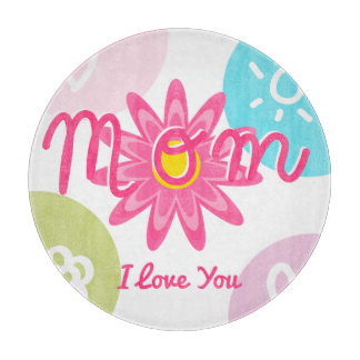 Happy Mother's day  Bright Colorful design Cutting Board