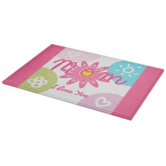 Happy Mother's day  Bright Colorful design Cutting Boards