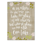 Happy Mother's Day Burlap Garden Floral Card