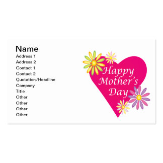 Happy Mothers Day Business Card Template