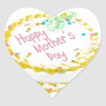 Happy Mother's day cake Heart Sticker