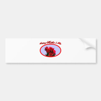 Happy Mother's Day Camellia bg Blue The MUSEUM Zaz Bumper Stickers