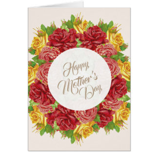 Happy Mother's Day Cart Flowers Card