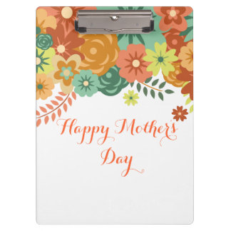Happy Mother's Day Colorful Floral Design Clipboards