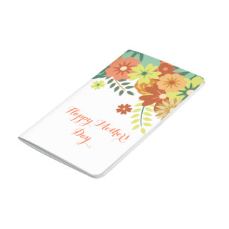 Happy Mother's Day Colorful Floral Design Journals