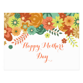 Happy Mother's Day Colorful Floral Design Postcard