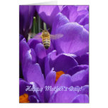 """Happy Mother's Day! """"Crocuses and Honey Bee"""" Card"""