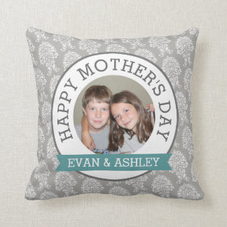 Happy Mother's Day - Custom Photo Template damask Cushion