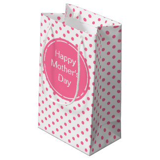 Happy Mother's Day   Cute Pink Polkadots Gift Bag