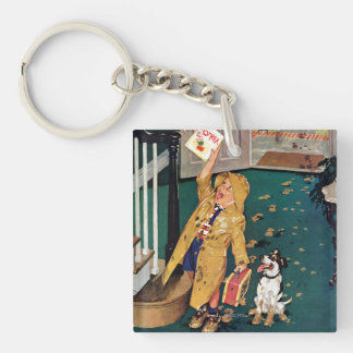 Happy Mother's Day Double-Sided Square Acrylic Key Ring