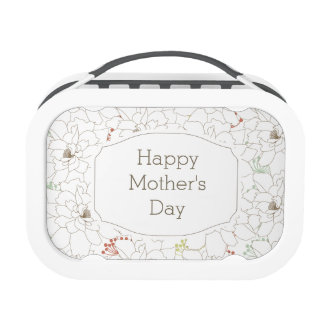 Happy Mother's Day Elegant Flowers Lunchboxes