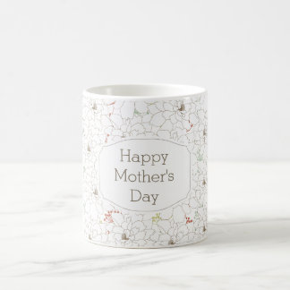 Happy Mother's Day Elegant Flowers Basic White Mug