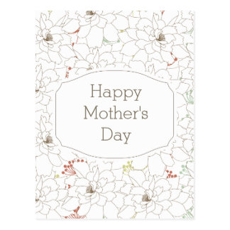 Happy Mother's Day Elegant Flowers Postcard