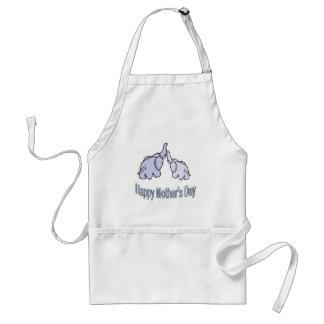 Happy Mothers Day Elephants Standard Apron