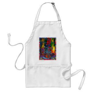 Happy Mothers Day Floral Abstract Standard Apron