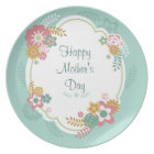 Happy Mother's Day Floral Frame Plate