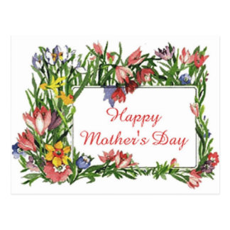 Happy Mother's Day Flowers Postcard