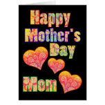Happy Mother's Day for Mum & Colourful Retro Greeting Card
