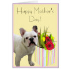 Happy Mother's Day French Bulldog greeting card