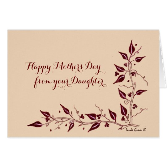 Happy Mother's day from Daughter Card