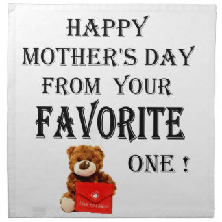 Happy Mothers Day gift Napkin