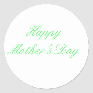 Happy Mother's Day Green The MUSEUM Zazzle Gifts Sticker