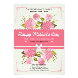 Happy Mother's Day greetings card 13 Cm X 18 Cm Invitation Card