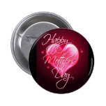 HAPPY MOTHER'S DAY HEART by SHARON SHARPE 6 Cm Round Badge
