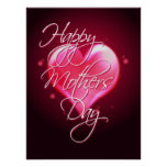 HAPPY MOTHER'S DAY HEART by SHARON SHARPE Poster