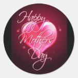 HAPPY MOTHER'S DAY HEART by SHARON SHARPE Round Sticker