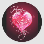 HAPPY MOTHER'S DAY HEART by SHARON SHARPE Classic Round Sticker