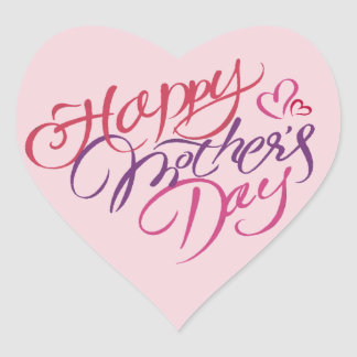 Happy Mother's Day Heart Sticker