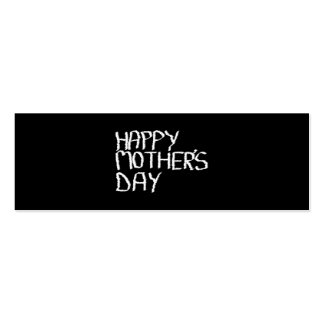 Happy Mother's Day. In Black and White. Business Card Templates