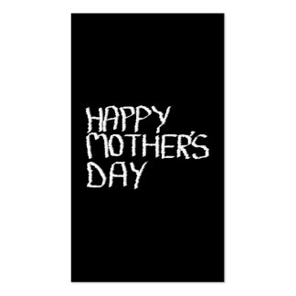 Happy Mothers Day. In Black and White. Business Card Templates
