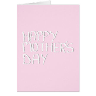 Happy Mothers Day. In pink and White. Custom Card