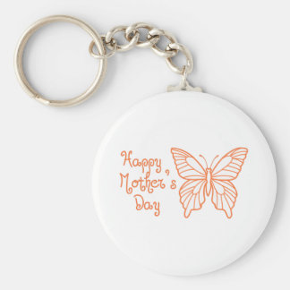 HAPPY MOTHERS DAY BASIC ROUND BUTTON KEYCHAIN