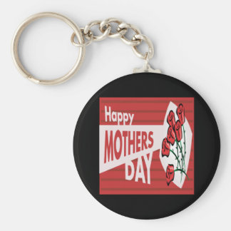 Happy Mothers Day Basic Round Button Key Ring