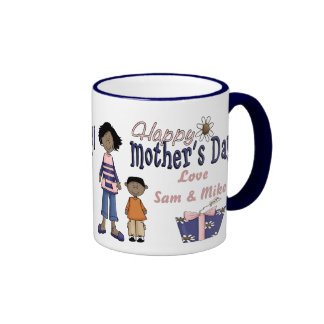 Happy Mothers Day - Kids & Present Ringer Mug