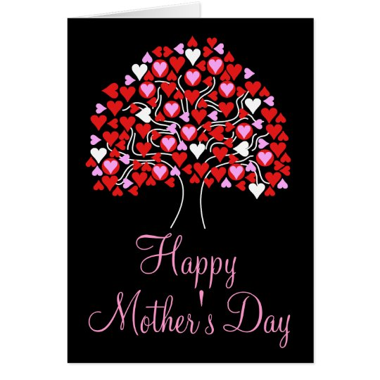 Happy Mother's Day Love Heart tree Card