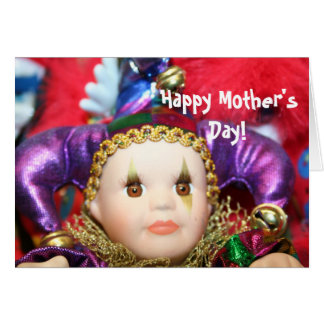 Happy Mother's Day Mardi Gras Doll notecard Note Card