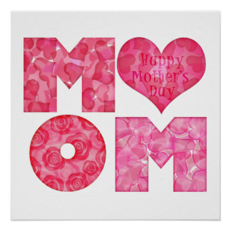 Happy Mother's Day Mom Alphabet Poster
